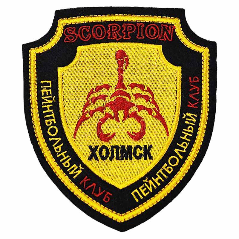 Нашивка пейнтбольная Скорпион