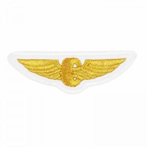Нашивка шеврон на форму РЖД крылья белые купить