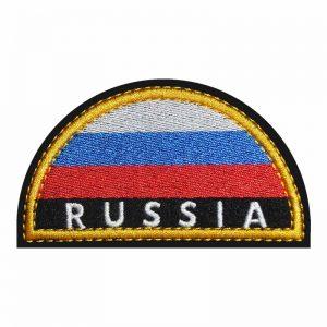 Нашивка шеврон на плечо на форму МЧС полукруг Россия Russia купить
