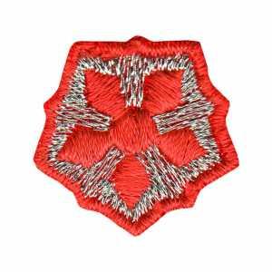 Нашивка РЖД звезда красно серебристая