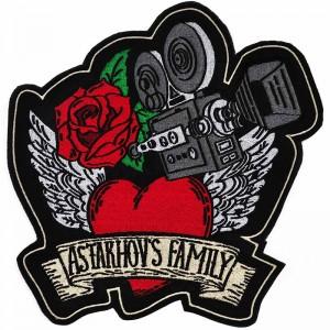 Шеврон нашивка роза для семьи Астаховых Astakhovs family