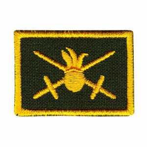 Петлица нашивка шеврон сухопутные войска жёлтый купить